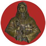 Imagen en bronce de Santa María de Cervellón primera mercedaria