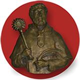 imagen en bronce de San Ramón Nonato